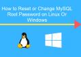 重置windows下mysql root密码