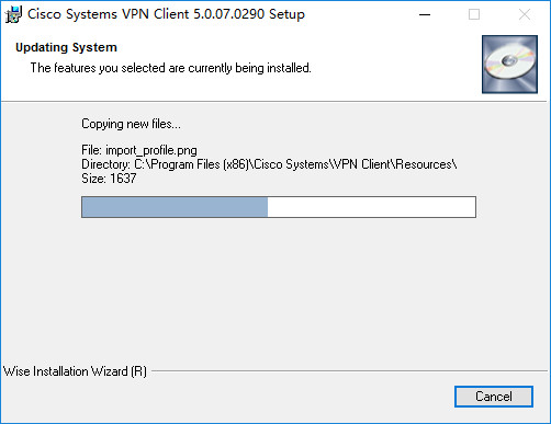 WIN10安装Cisco VPN Client v5.0.07.0290.x64