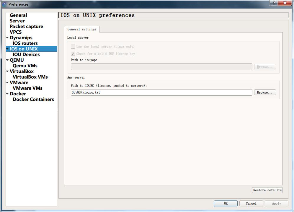 安装GSN3 1.5.1模拟器
