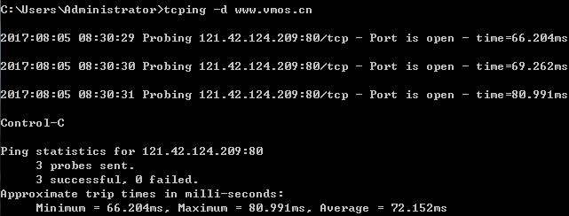 tcping.exe = ping使用tcp连接