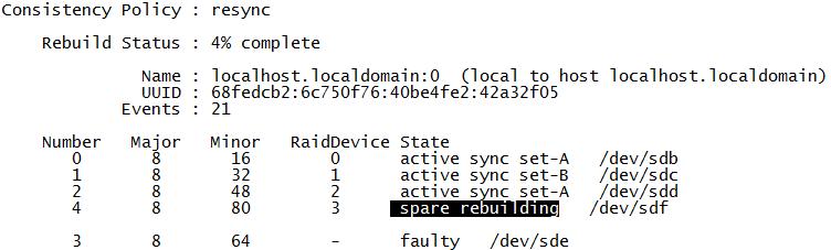 CentOS7 软RAID配置