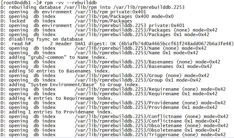 CentOS7.5 解决error: rpmdbNextIterator: skipping h#