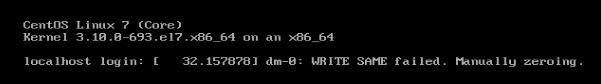 dm-0: WRITE SAME failed. Manually zeroing.