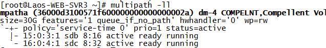 RHEL7.4 FC SAN存储多路径
