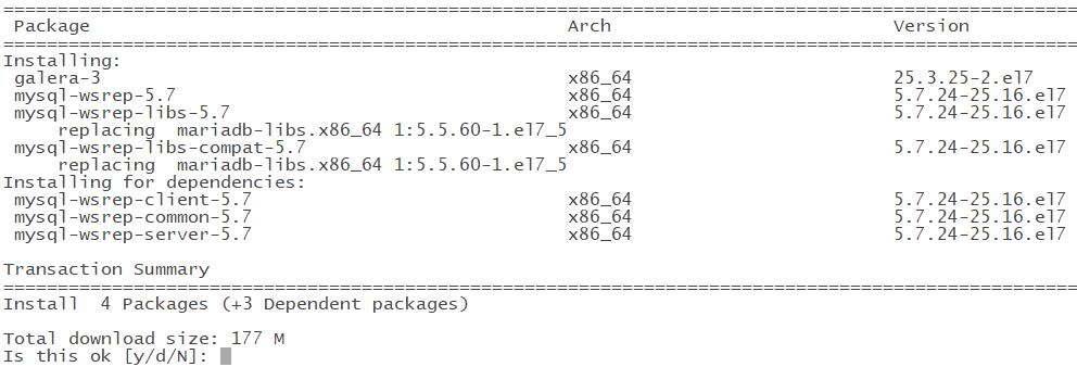 CentOS7.6 安装MySQL Galera集群