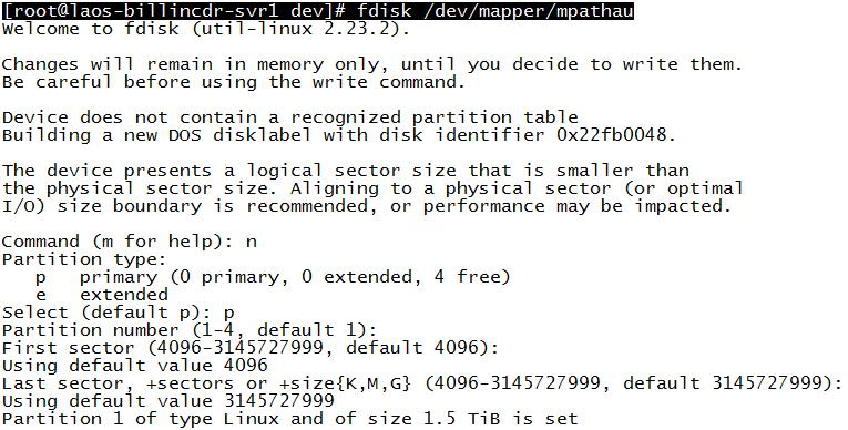 CentOS7 存储LUN对LVM分区扩容