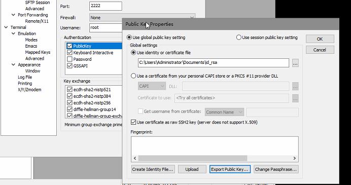 CentOS7.6 SSH证书登录