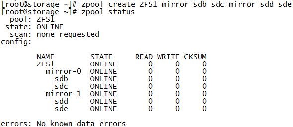 CentOS7.6 安装ZFS并创建Raid