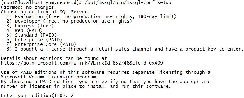 CentOS 7.6安装SQL Server 2019