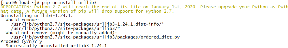 解决Error unpacking rpm package python-urllib3