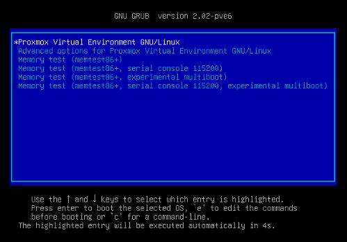 Proxmox Virtual Environment安装并集群
