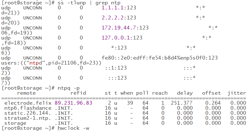 CentOS7.6 NTP