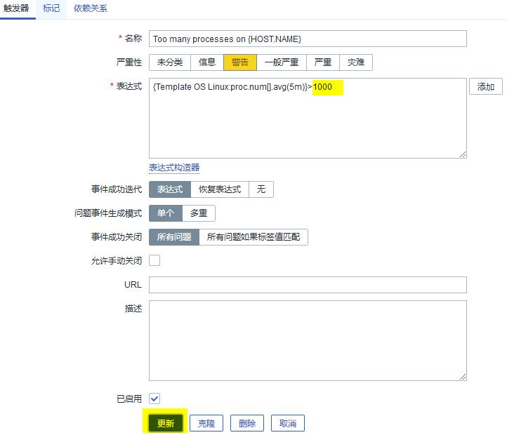 解决Zabbix告警Too many processes on Zabbix server