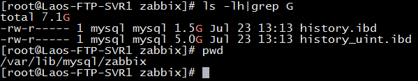 解决Zabbix4 history_uint.ibd数据库过大问题