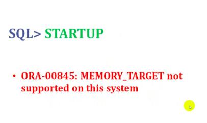 RHEL7 Oracle11gR2出现ORA-00845