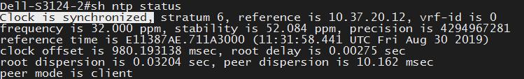 DELL交换机配置NTP
