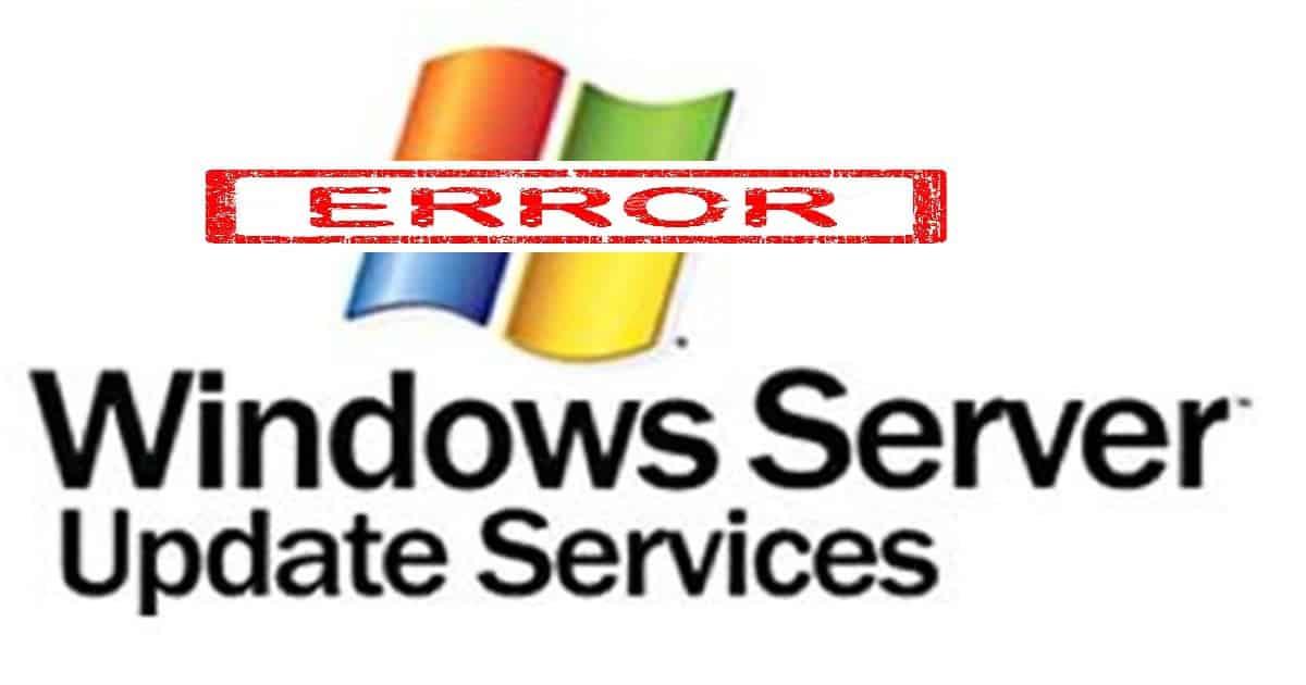 解决WSUS错误:连接错误