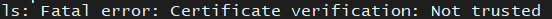 Linux命令行下登录ssl加密的ftp