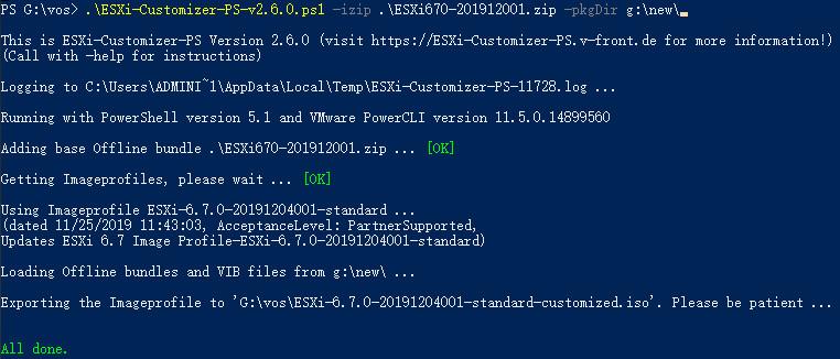 PowerCLI封装ESXI6.7网卡驱动