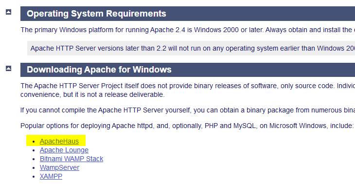 Windows下搭建Apache文件服务器