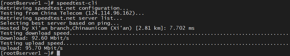 CentOS7测速工具