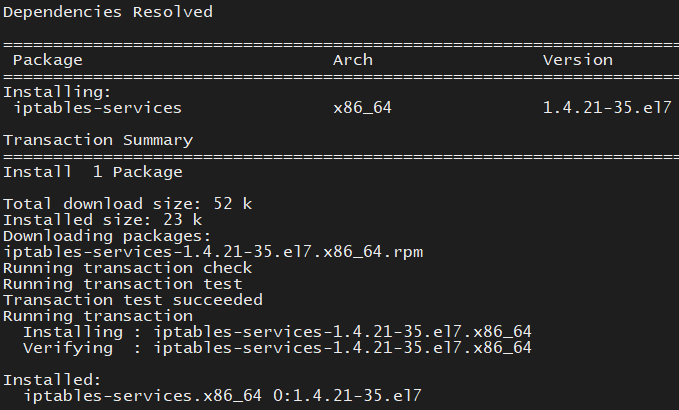 CentOS7升级iptables