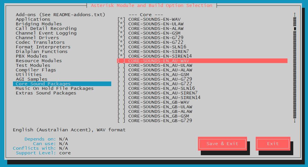 CentOS7安装Asterisk18