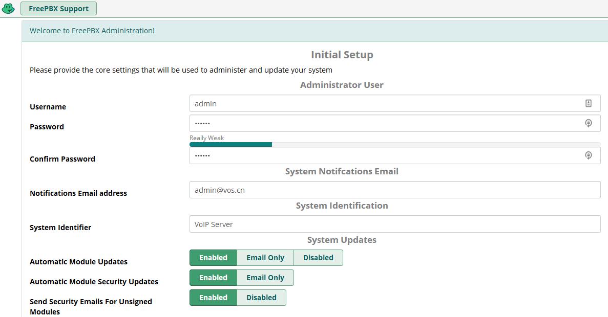 CentOS7安装FreePBX15