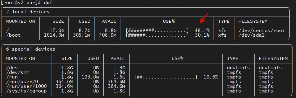 CentOS7清理磁盘空间