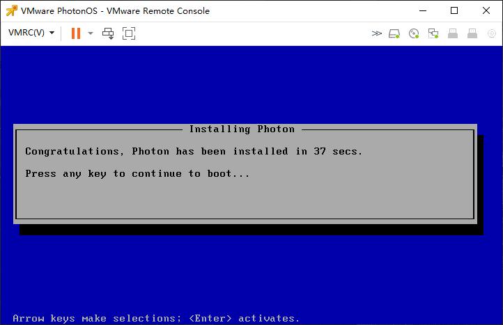 安装VMware PhotonOS 4